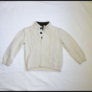 Cherokee Boys Ivory Pullover Sweater (4T)